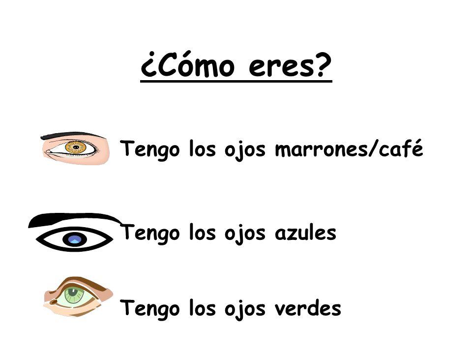 ¿Cómo eres Tengo los ojos marrones/café Tengo los ojos azules