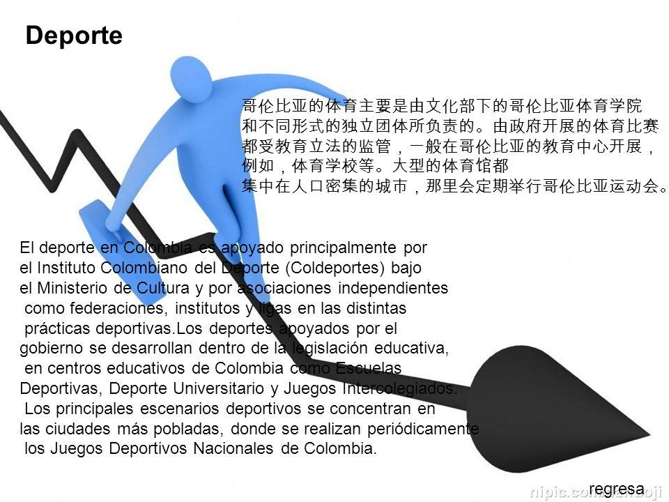Deporte 哥伦比亚的体育主要是由文化部下的哥伦比亚体育学院