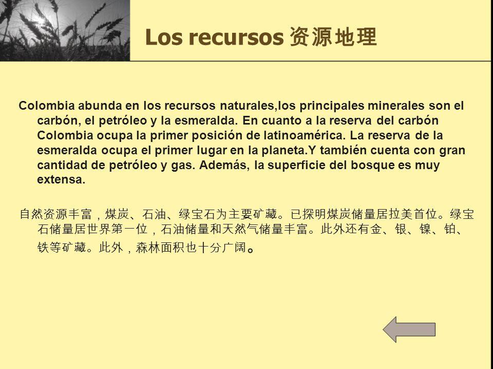 Los recursos 资源地理