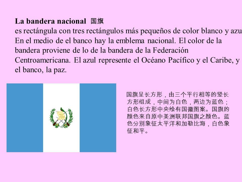 La bandera nacional 国旗