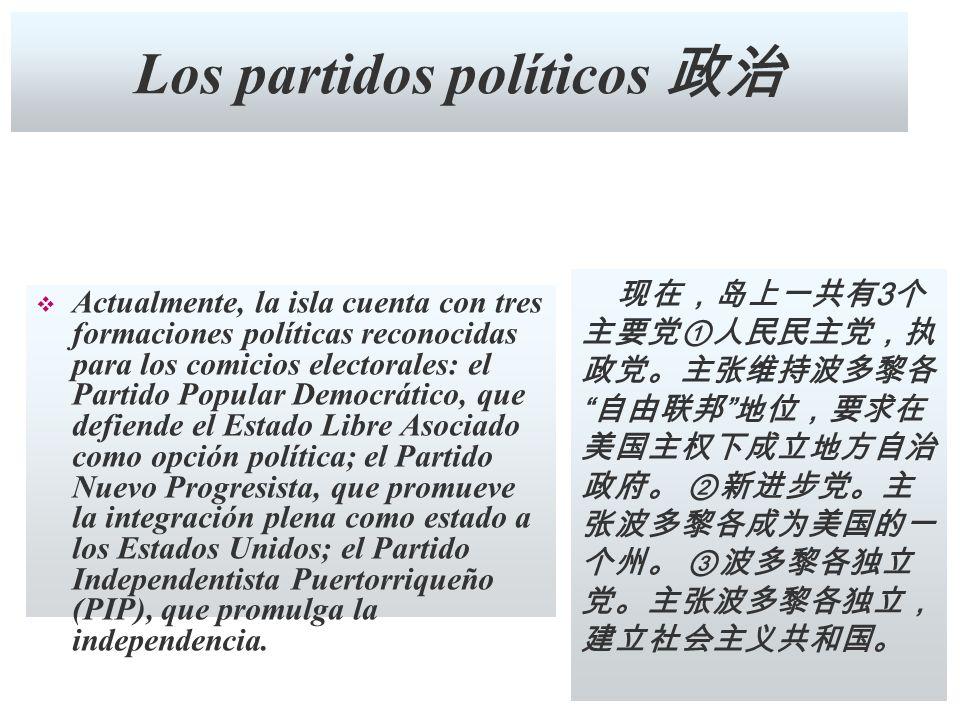 Los partidos políticos 政治