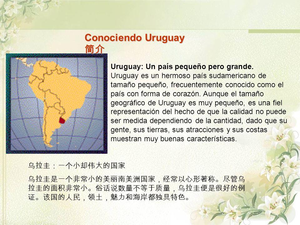 Conociendo Uruguay 简介 Uruguay: Un país pequeño pero grande.