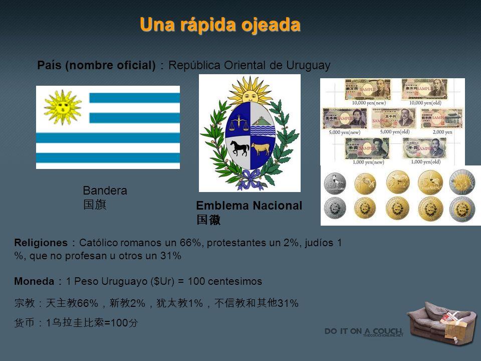 Una rápida ojeada País (nombre oficial):República Oriental de Uruguay