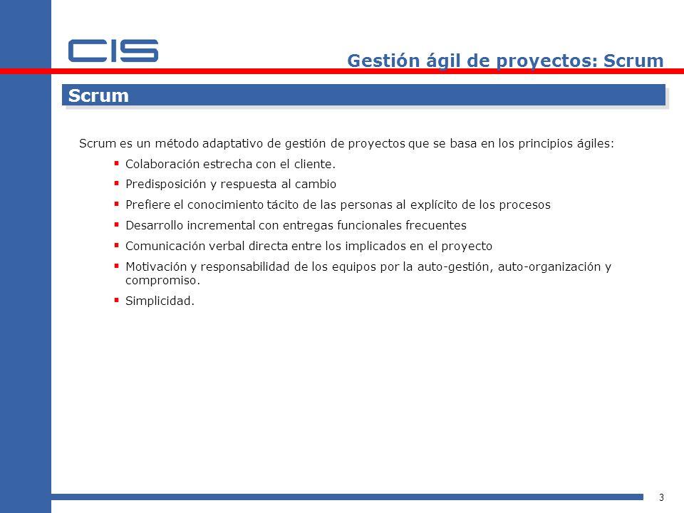 Gestión ágil de proyectos: Scrum