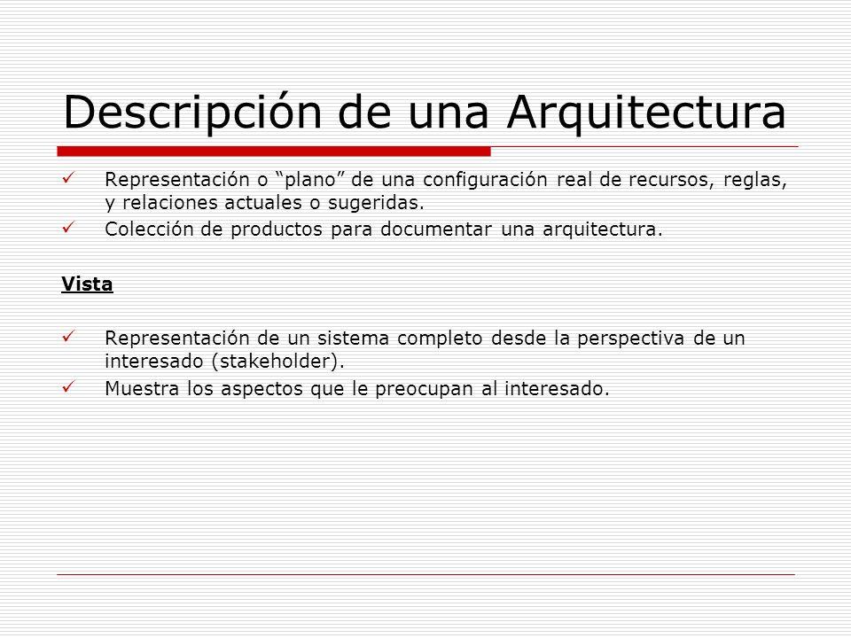 Descripción de una Arquitectura