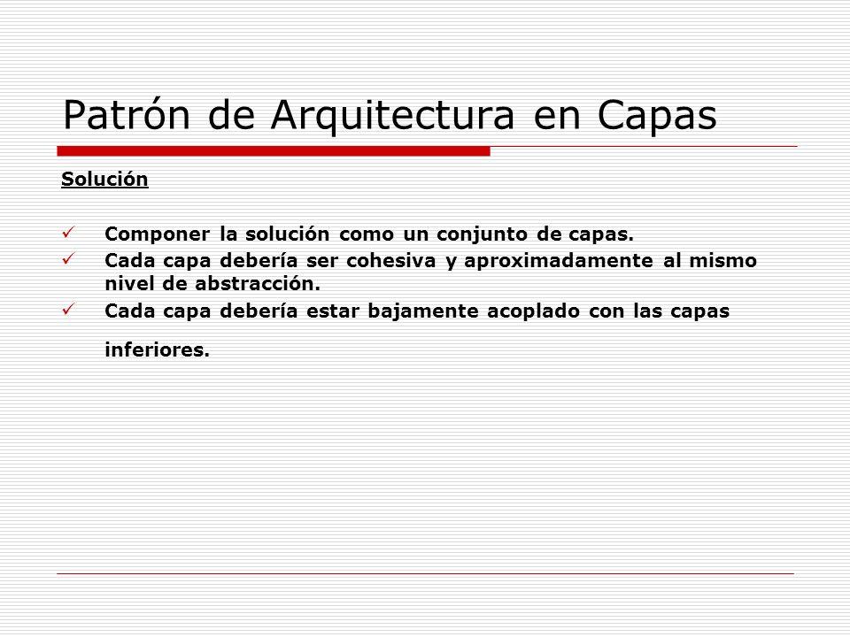 Patrón de Arquitectura en Capas