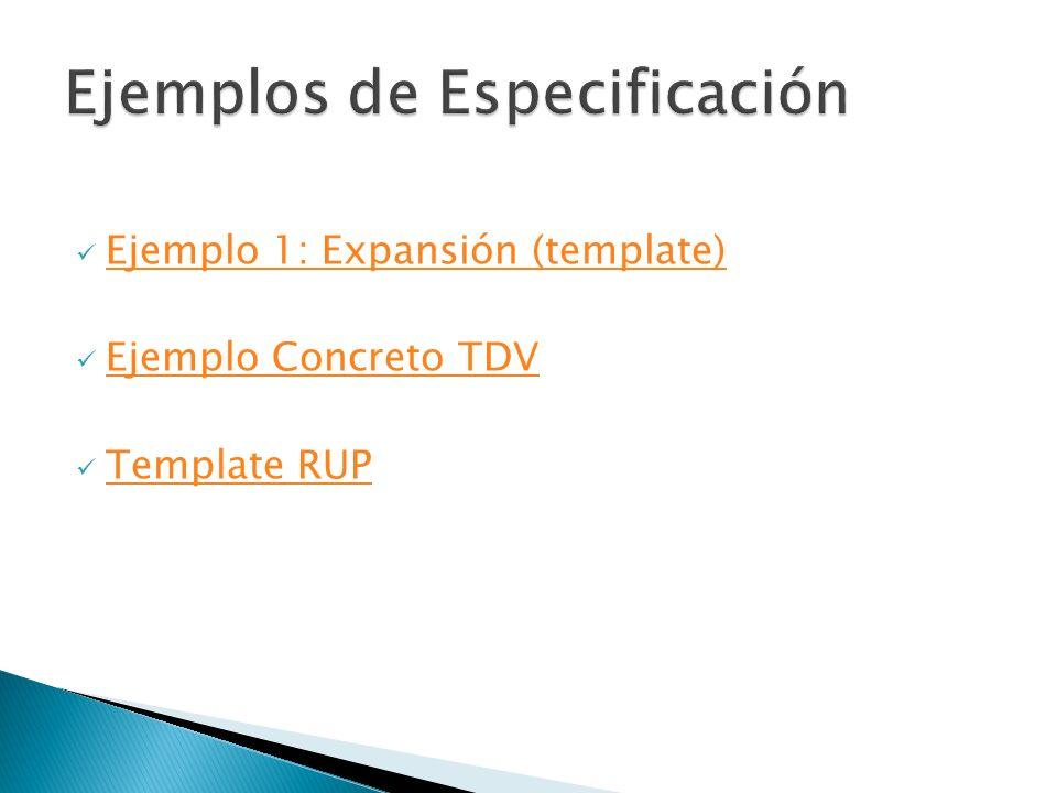 Ejemplos de Especificación