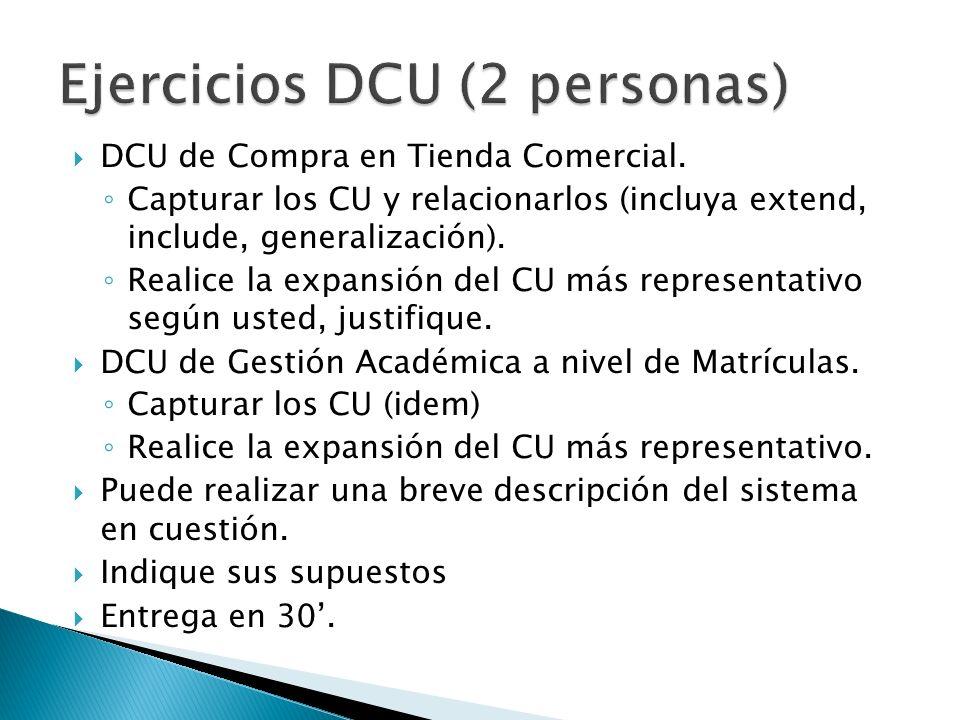 Ejercicios DCU (2 personas)