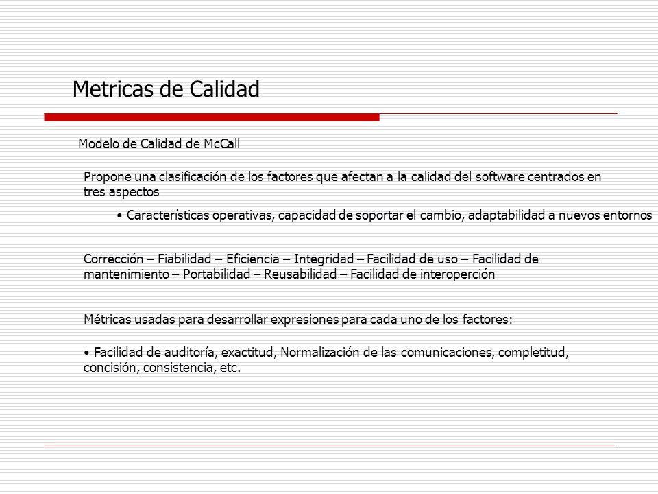 Metricas de Calidad Modelo de Calidad de McCall