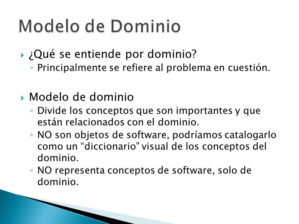 Modelo de Dominio ¿Qué se entiende por dominio Modelo de dominio