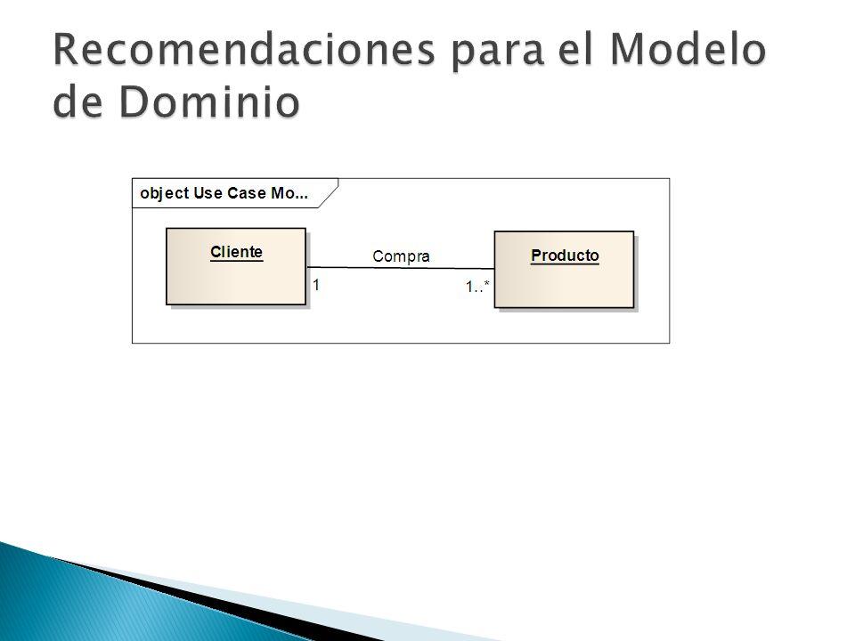 Recomendaciones para el Modelo de Dominio