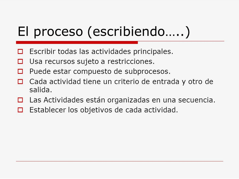 El proceso (escribiendo…..)