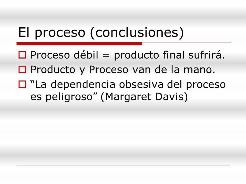 El proceso (conclusiones)