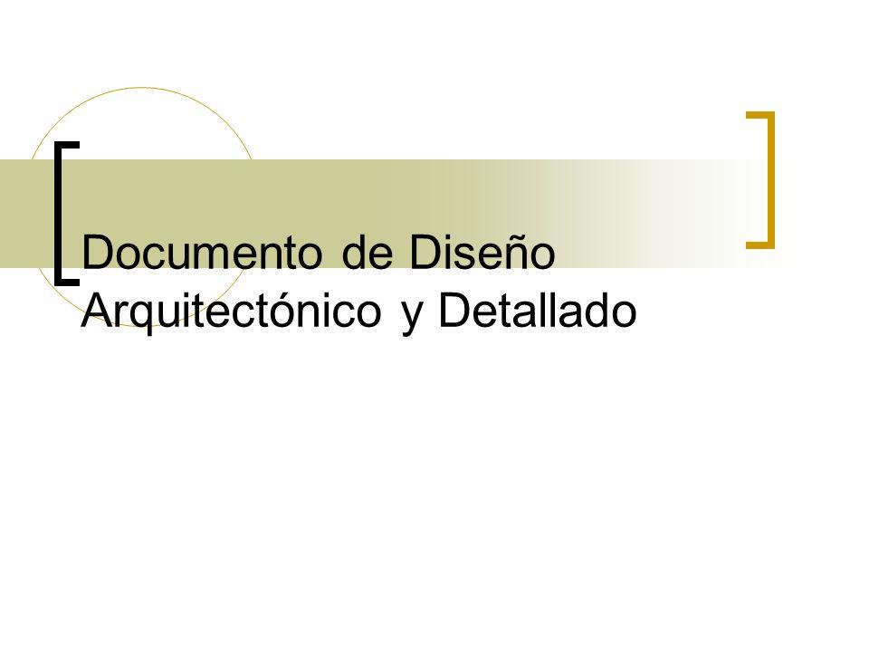 Documento de Diseño Arquitectónico y Detallado