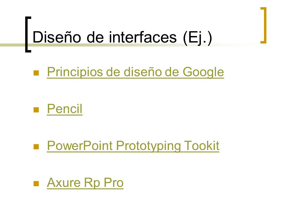 Diseño de interfaces (Ej.)