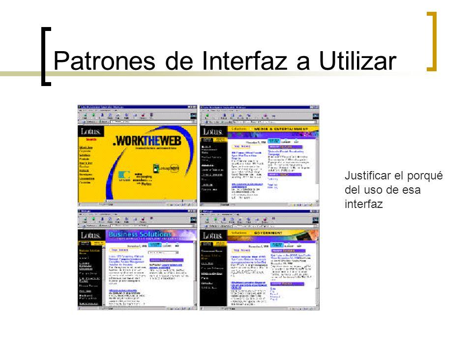 Patrones de Interfaz a Utilizar