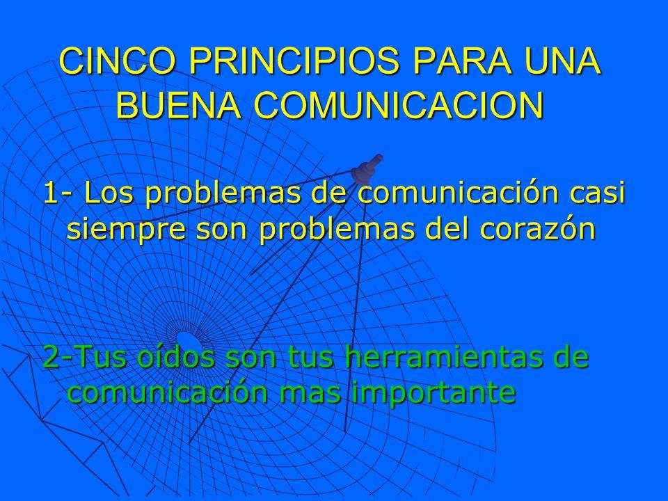 CINCO PRINCIPIOS PARA UNA BUENA COMUNICACION