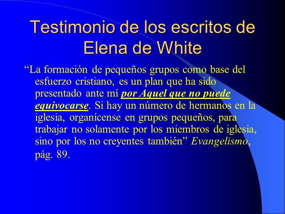 Testimonio de los escritos de Elena de White