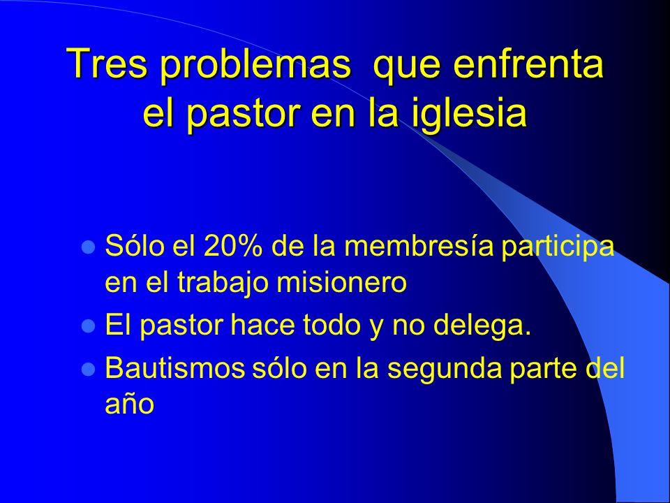 Tres problemas que enfrenta el pastor en la iglesia