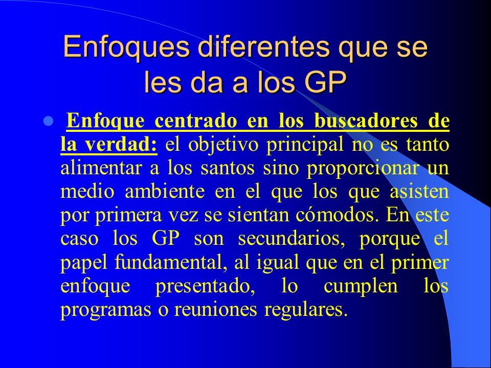 Enfoques diferentes que se les da a los GP