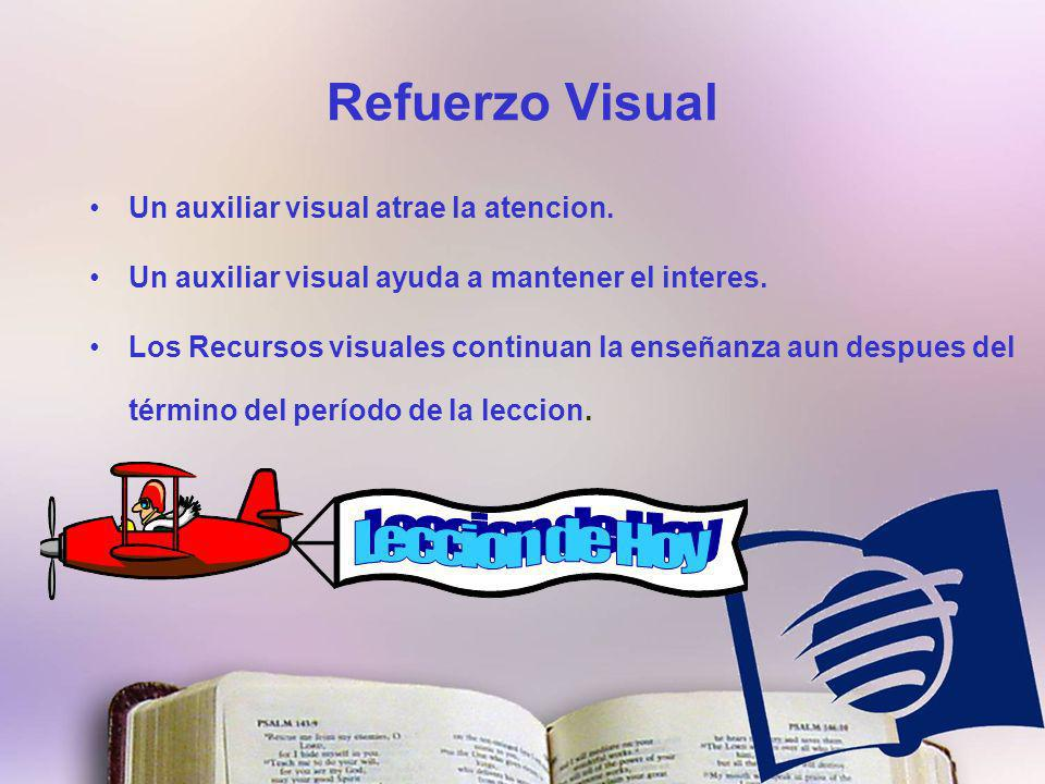 Refuerzo Visual Un auxiliar visual atrae la atencion.