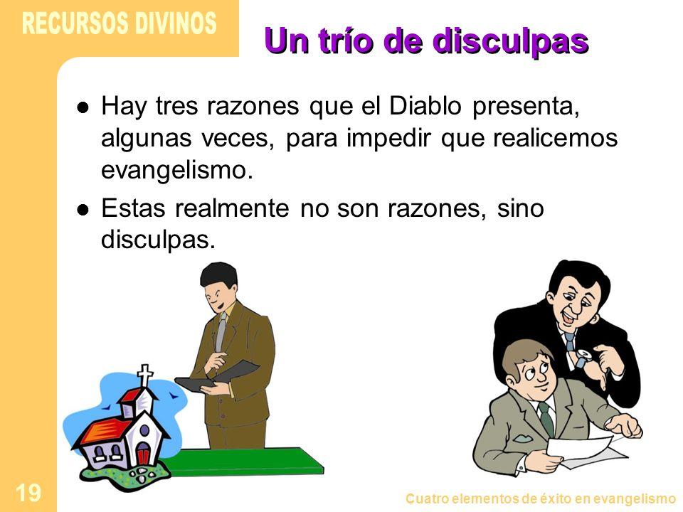 RECURSOS DIVINOS Un trío de disculpas