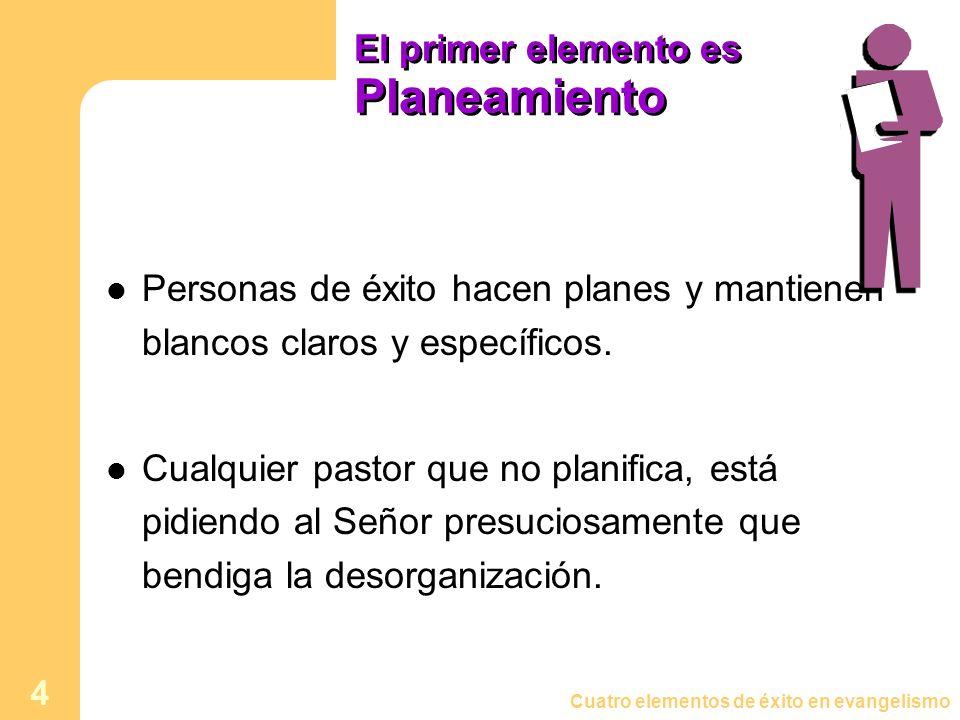 El primer elemento es Planeamiento