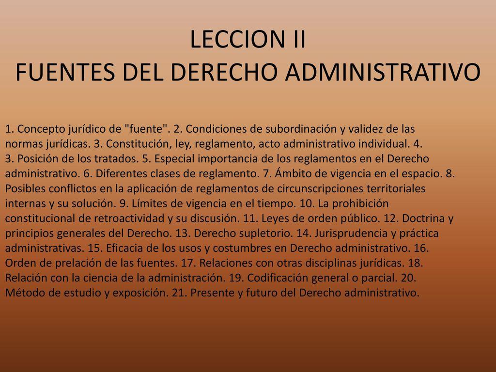 Fuentes Del Derecho Administrativo Ppt Descargar # Muebles Fuentes Carballo