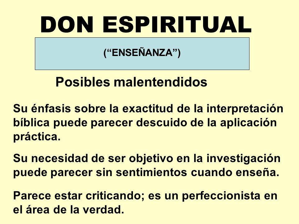 DON ESPIRITUAL GIFT Posibles malentendidos