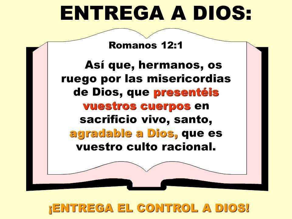 ¡ENTREGA EL CONTROL A DIOS!