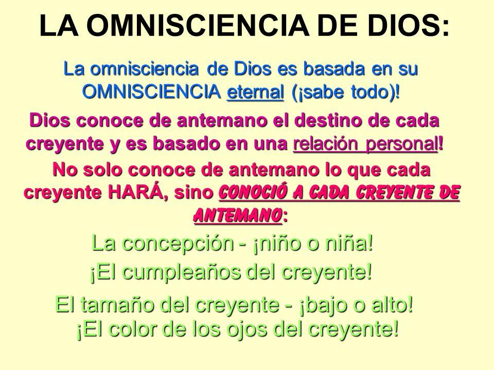 LA OMNISCIENCIA DE DIOS: