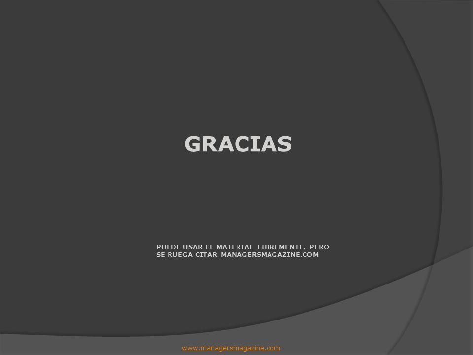 GRACIAS PUEDE USAR EL MATERIAL LIBREMENTE, PERO SE RUEGA CITAR MANAGERSMAGAZINE.COM.