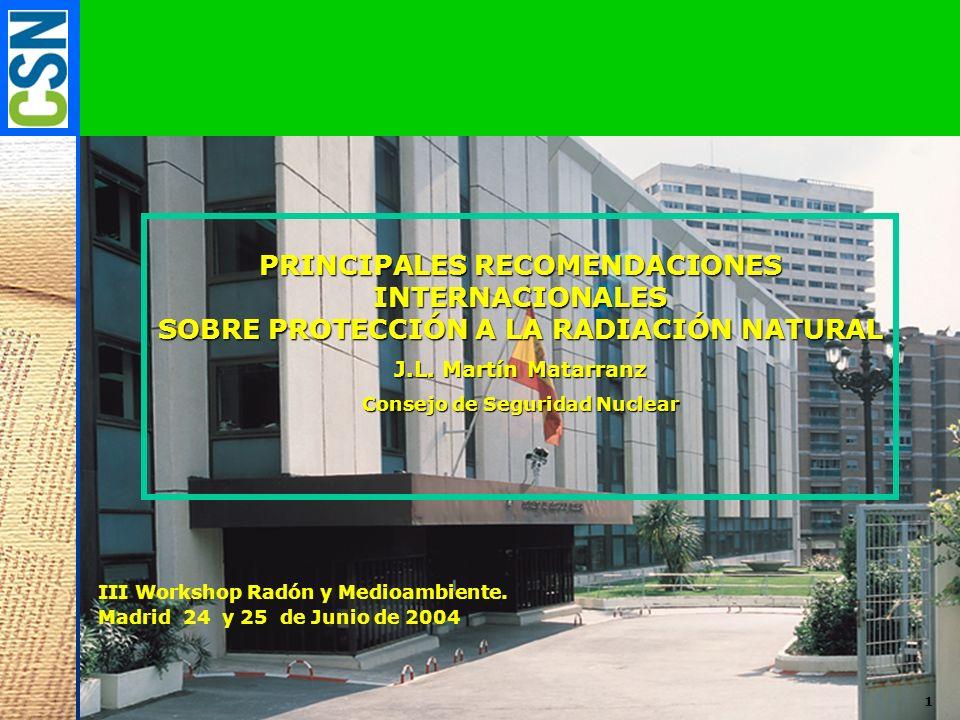 PRINCIPALES RECOMENDACIONES INTERNACIONALES
