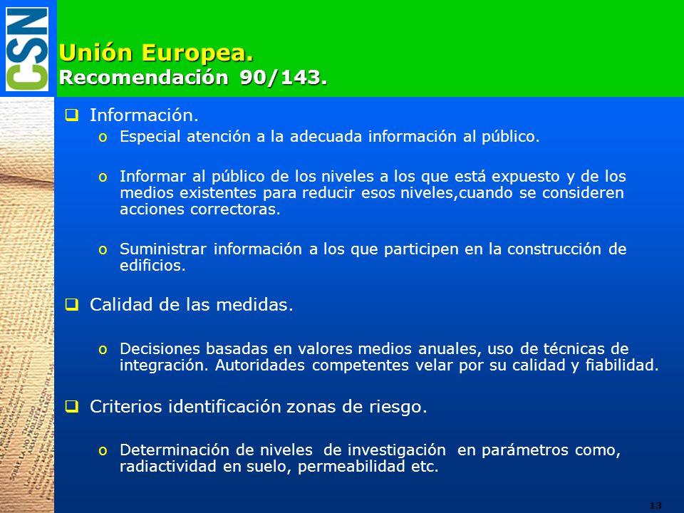 Unión Europea. Recomendación 90/143.