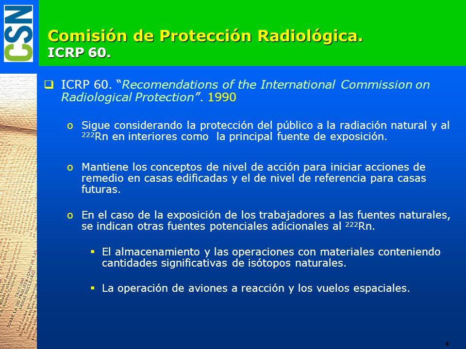 Comisión de Protección Radiológica. ICRP 60.