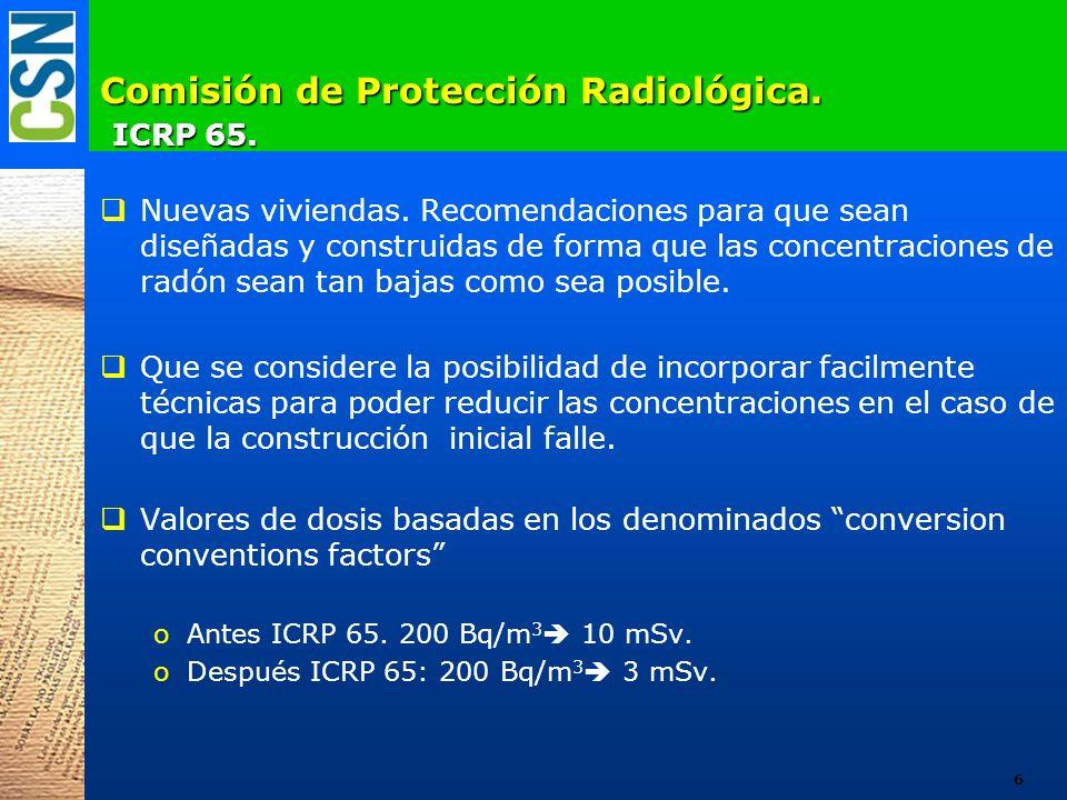 Comisión de Protección Radiológica. ICRP 65.