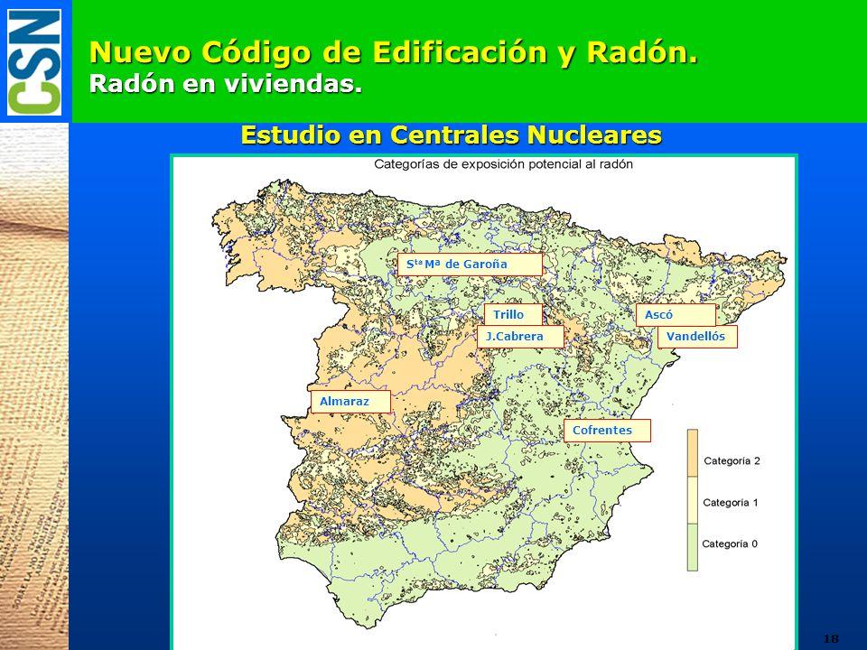 Nuevo Código de Edificación y Radón. Radón en viviendas.