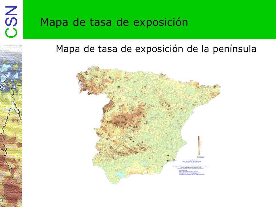 Mapa de tasa de exposición