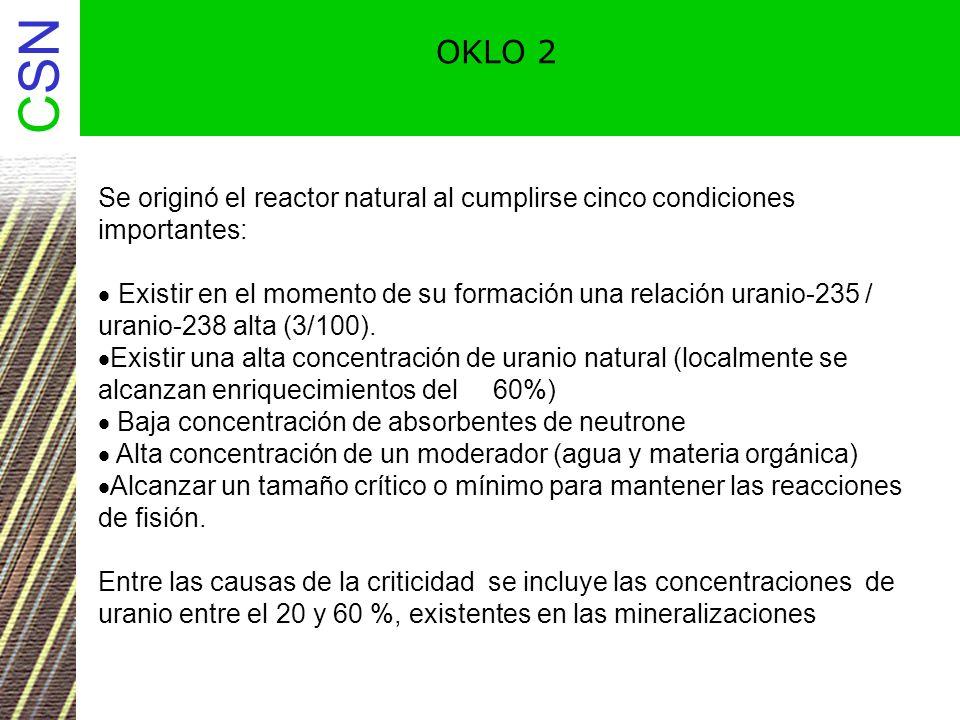 OKLO 2 Se originó el reactor natural al cumplirse cinco condiciones importantes: