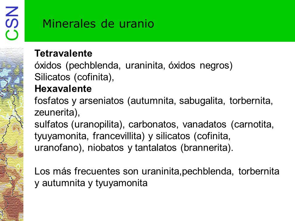 Minerales de uranio Tetravalente