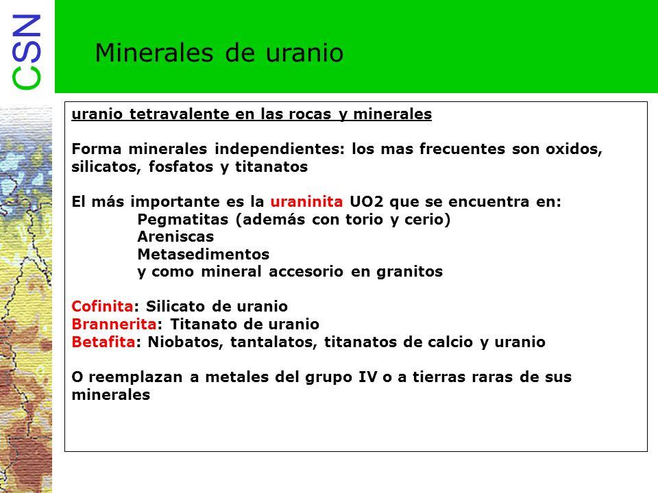 Minerales de uranio uranio tetravalente en las rocas y minerales