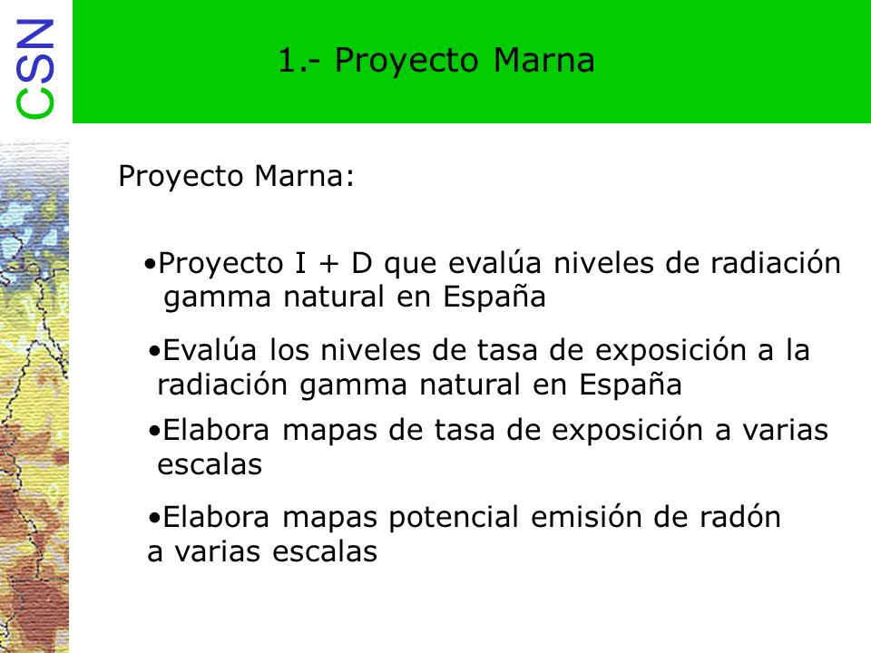 1.- Proyecto Marna Proyecto Marna: