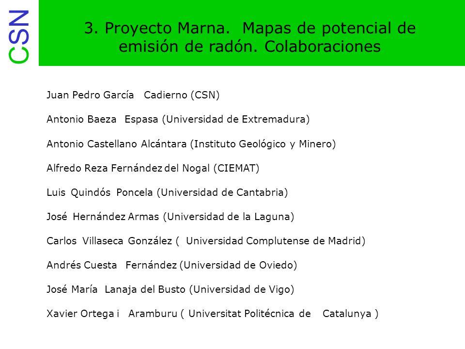 3. Proyecto Marna. Mapas de potencial de