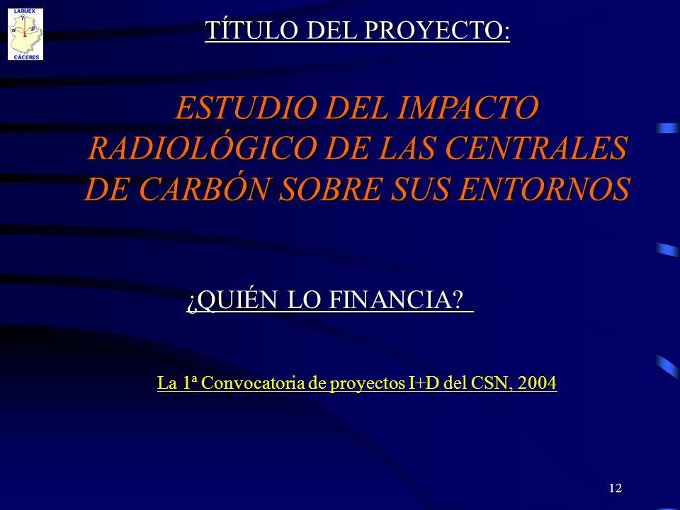 La 1ª Convocatoria de proyectos I+D del CSN, 2004