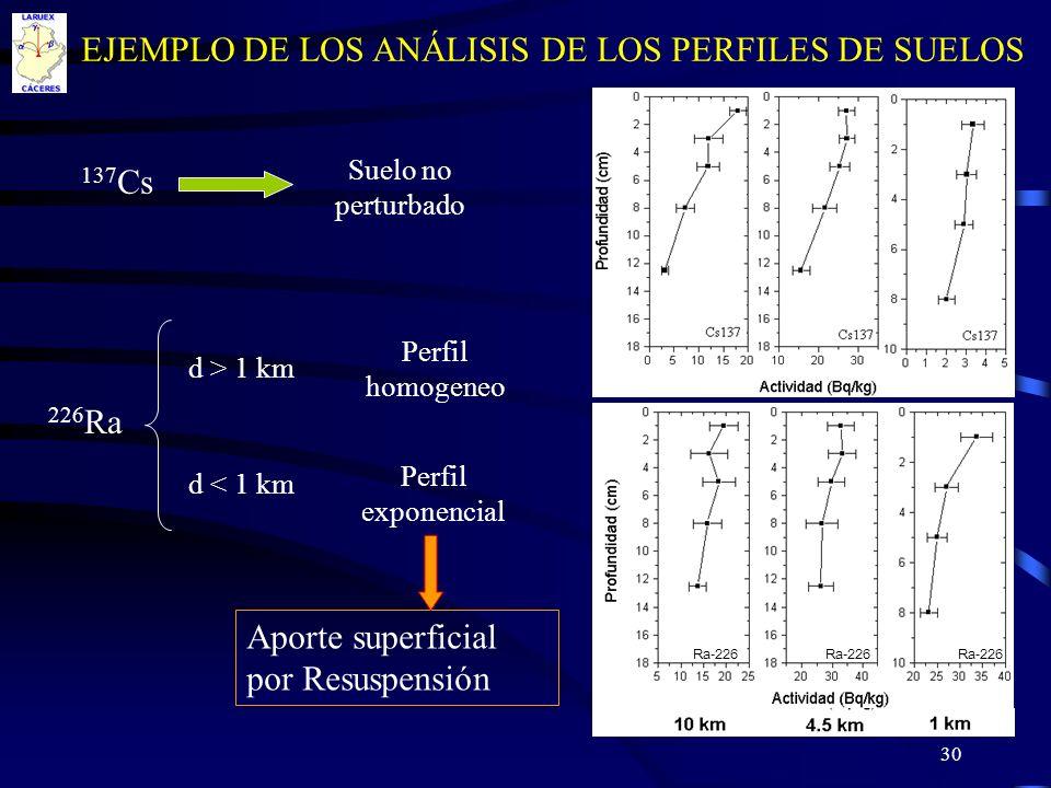 EJEMPLO DE LOS ANÁLISIS DE LOS PERFILES DE SUELOS