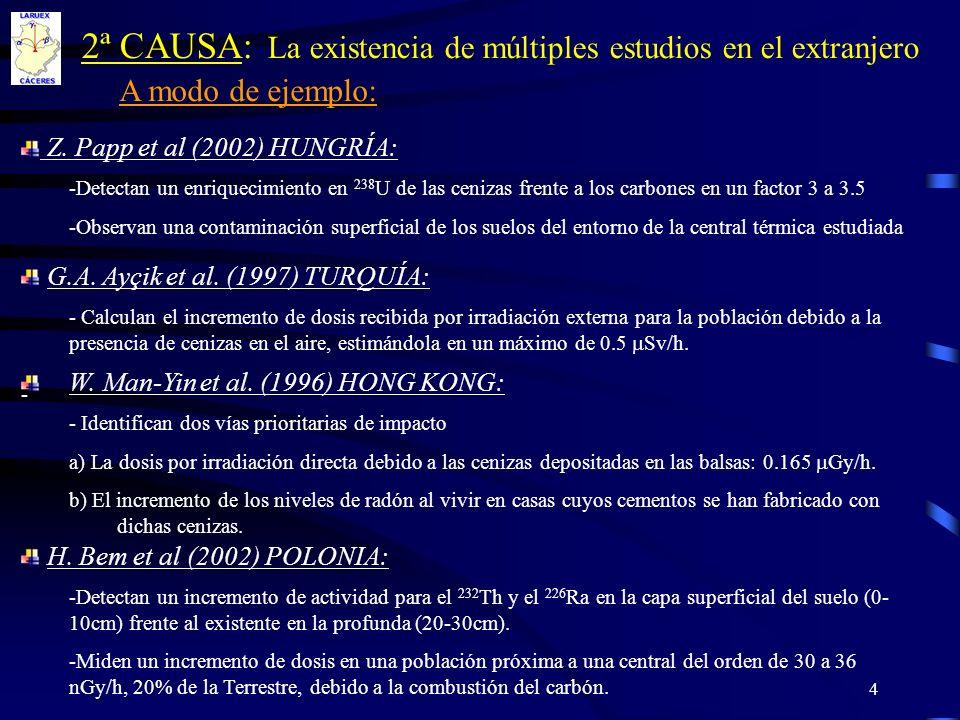 2ª CAUSA: La existencia de múltiples estudios en el extranjero