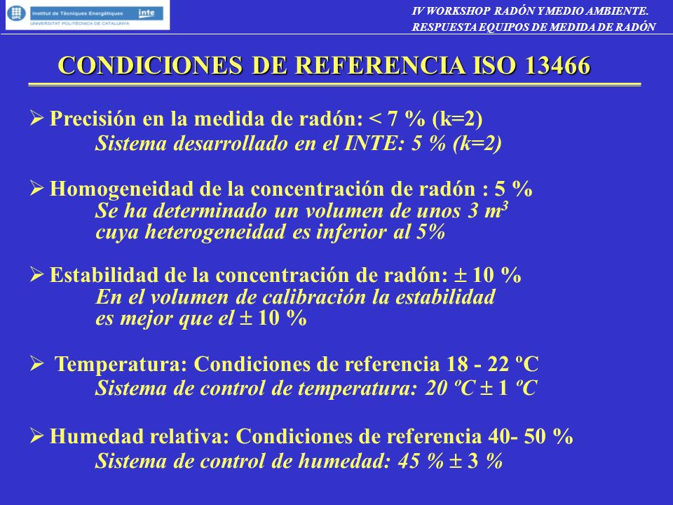 CONDICIONES DE REFERENCIA ISO 13466