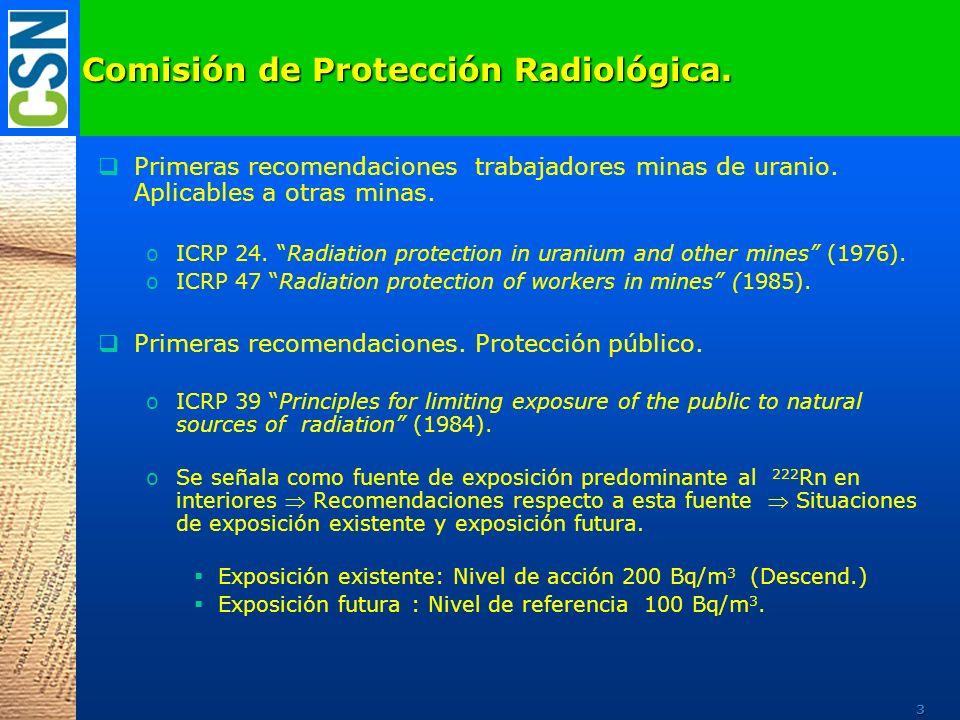 Comisión de Protección Radiológica.