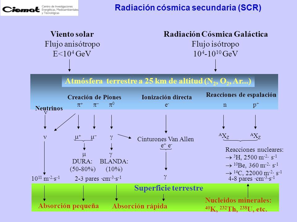 Radiación cósmica secundaria (SCR)