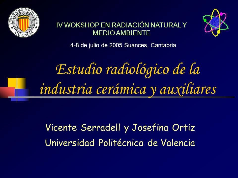 Estudio radiológico de la industria cerámica y auxiliares